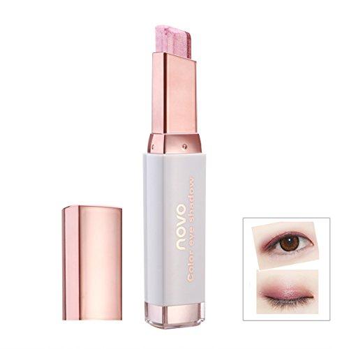 Mode Doppel Farben Lidschatten Stick Feuchtigkeitsspendende Absolvierte Lidschatten Stift Professionelle Kosmetik (Weinrot)
