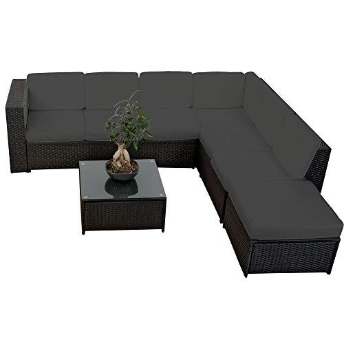 XINRO 19tlg XXXL Polyrattan Gartenmöbel Lounge Sofa günstig - Lounge Möbel Lounge Set Polyrattan...