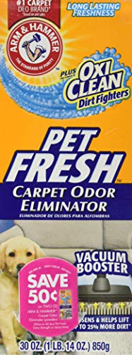 Arm and Hammer Pet Fresh Carpet Odor Eliminator Plus Oxi Clean Dirt Fighters, 30 ounce (Pack of 2,...