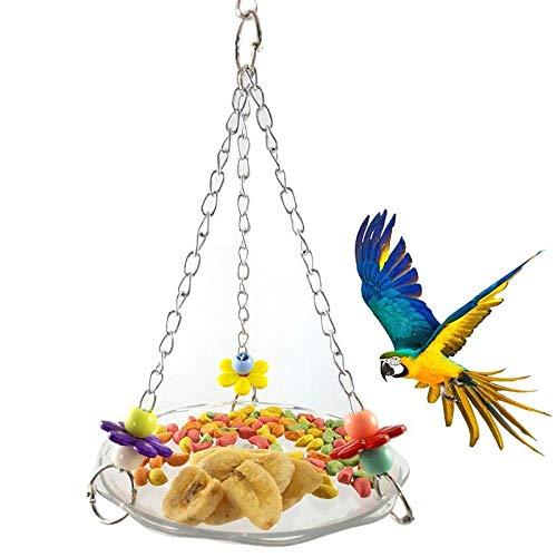SKYROPNG Vogelfutterspender,Hängematte Aufhängen Schlafen Nest Zuführstationen, Pearl Parrot Dispenser Behälter, Für Den Außenbereich Balkon Haustier Verbrauchsmaterial Zubehör