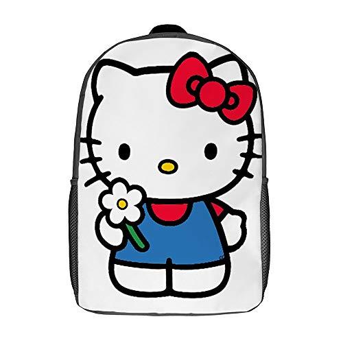 Hello Kitty Rucksack/Schulranzen/Reisetasche/Tagesrucksack für Herren, Damen, Teenager, Schule, College, 43,2 cm