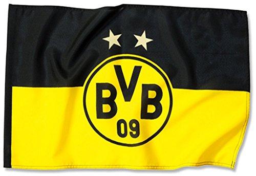 Flaggenfritze Hissflagge Borussia Dortmund Logo Sterne - 100 x 150 cm + gratis Aufkleber