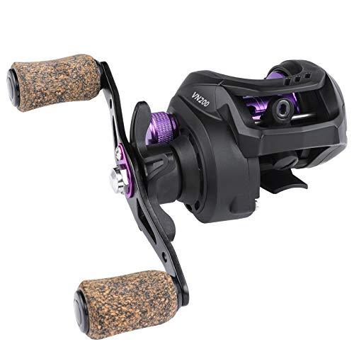 BEARKING Violent Spear Fishing Reel,Stainless BB Smooth,7.6oz Light Weight,15.4lb Max Drag Powerful CNC Baitcaster Reel(Right)