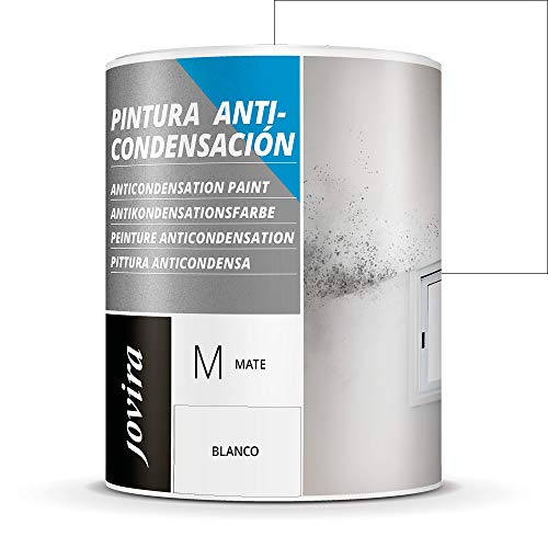 ANTICONDENSACION Antihumedad antimoho exterior-interior. Eficaz para paredes de yeso, hormigon, cemento. Soluciona problemas de condensación por humedad (750 ML, BLANCO)