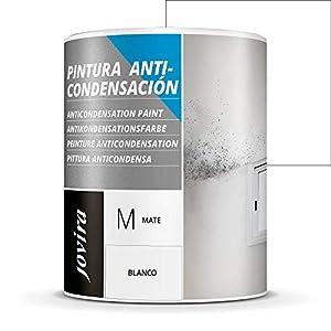 ANTICONDENSACION Antihumedad antimoho exterior-interior. Eficaz para paredes de yeso, hormigón, cemento. Soluciona problemas de condensación por humedad (750 ml, BLANCO)