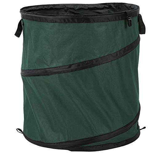 RANNYY Foldable Waste Container, Outdoor Portable Oxford Cloth Foldable Waste Container Trash Can Bucket for Camping Picnic(5550cm-绿色)