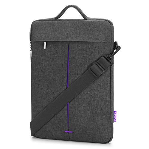 DOMISO 13.3 Inch Laptop Shoulder Bag Sleeve Case for Apple 13' MacBook Air / 14' ThinkPad A485 / 14' HP ProBook 640 G4/645 G4