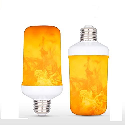 LED Flicker Flame Effect Light Bulb with Upside Down Effect,E26 LED Flickering Bulb - 7W - 320 Lumen...