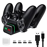 VicTsing PS4 Controller Charger, PS4 Charging Station Dock Dual USB with LED Indicator Light, PlayStation 4 Charging Station for Sony Playstation4 / PS4 / PS4 Slim / PS4 Pro Controller
