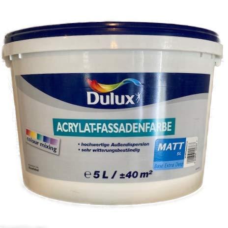 Dulux Acrylat-Fassadenfarbe Weiß Matt 5 L