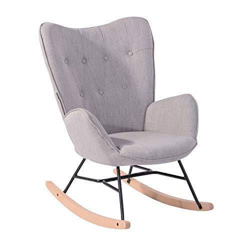 Sillón Mecedora Moderna Sillas Relax De Salón Dormitorio Comedor