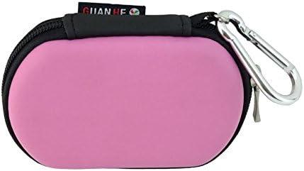 [USB Flash Drive Case] - Lensfo Universial Portable Waterproof Shockproof Electronic Accessories Organizer Holder / USB Flash Drive Case Bag - Pink