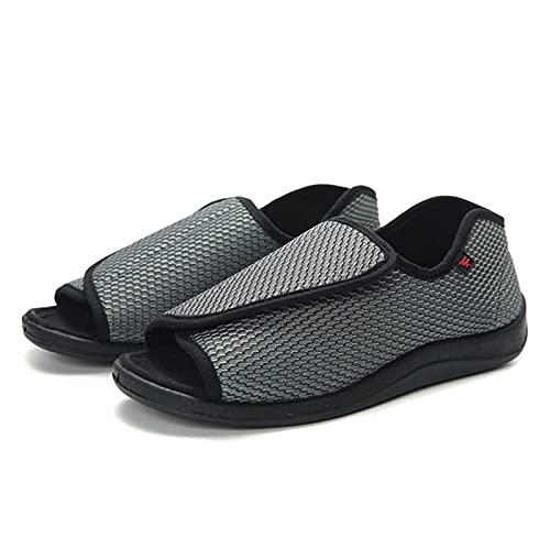 DXDUI Zapatos de Diabetes Unisex, Verano diabéticos de Forma Libre, Zapatos Ligeros Suaves, ensanchados, Zapatos de deformación de Grasa hinchados Zapatos de pies heridos