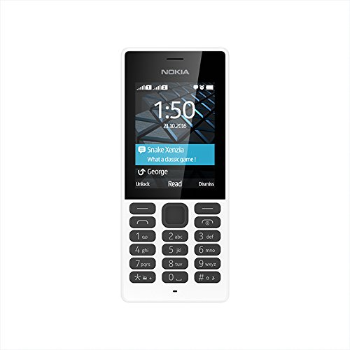 Nokia 150 Dual SIM Handy 6,1 cm (2,4 Zoll) Display, 0,3 MP Kamera, Radio, MP3-Player weiß