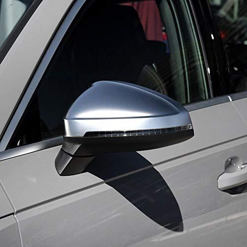 WERTYU 1 Par Cromo Mate De Plata Reemplazo del Coche del Casquillo Automática Espejo Retrovisor Shell Cubierta De Protección Fit For Audi A4 A5 B9 S4 2017 Cubierta Espejo retrovisor Puerta