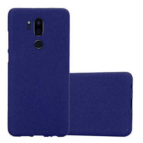 Cadorabo Hülle für LG G7 ThinQ in Frost DUNKEL BLAU - Handyhülle aus flexiblem TPU Silikon - Silikonhülle Schutzhülle Ultra Slim Soft Back Cover Hülle Bumper