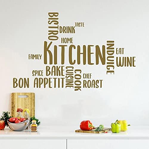 Jsnzff Pegatinas de Pared de Cocina, decoración de Cocina de Restaurante, Pegatinas de Pared para habitación de Cocina, decoración del hogar, decoración de Interiores, 112x72 cm