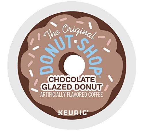 The Original Donut Shop Chocolate Glazed Donut Coffee single serve capsules for Keurig K-cup pod brewers (48 Count)