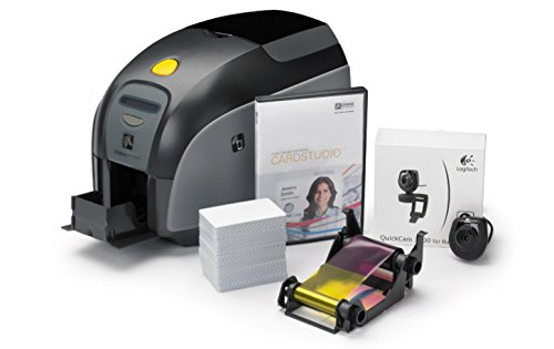 Zebra ZXP 1QuikCard–CD Label-Drucker (LCD, direkt/Wärmeübertragung, grau, 20–65%, 20–70%, verkabelt)