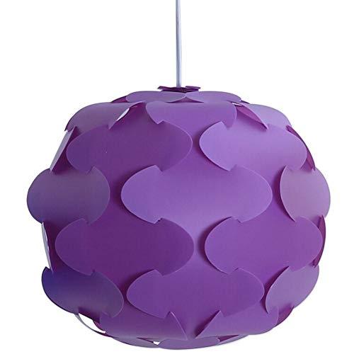 Pantalla De Rompecabezas DIY, Pantalla De Lámpara Violeta Moderna Moderna Lámpara De Rompecabezas Moderna IQ En 12 Piezas, Diseños Simples Y Modernos - Diámetro Aprox. 30/48 Cm - Púrpura En Talla S