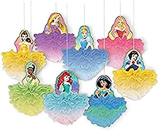 """""""Disney Princess"""" Multicolor Deluxe Fluffy Party Decorations, 8 Ct."""