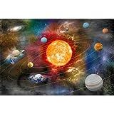 Rompecabezas De Madera 300/500/1000 Piezas De Sistema Solar Science Planet Adultos Descompresión Niños Rompecabezas Regalo(Color:una,Size:500pc)