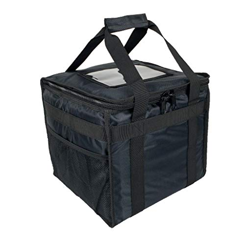 Bolsa de comida caliente para pizza, comida para llevar, restaurante, picnic, indio, chino, Kebabs, catering, bolsa de entrega, aislamiento térmico 32x32x30cm HFB30L - negro