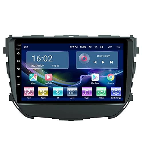 Estéreo Del Coche Radio De Navegación Por Satélite FM AM Reproductor Multimedia Android 10.0 Autoradio Pantalla Táctil Navegación GPS Para Suzuki BREZZA 2016-2018 Soporte Bluetooth(Color:WIFI 4G+64G)