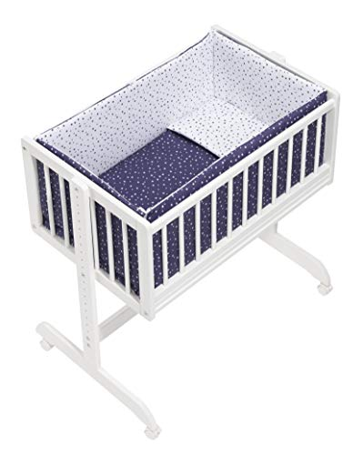 (VARIOS COLORES) Minicuna Colecho Universal Adosada Aluminio Agua Marina Gris - mibebestore