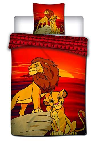 The Lion King Disney Housse de Couette – 140 x 200 cm + 63 x 63 cm – Polyester