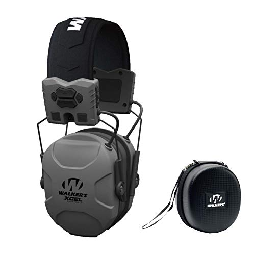 Walker's XCEL 500BT Digital Electronic Hearing Protection Muff (Bluetooth and Voice Clarity) with Protective Case Kit