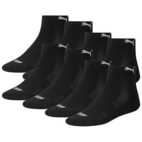 PUMA Unisex Match Quarters Socken Sportsocken MIT FROTTEESOHLE 8er Pack black 200 - 39/42