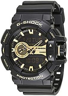 Casio Men's Black Dial Silicone Band Watch - GA-400GB-1A9DR