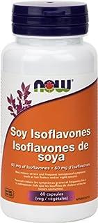NOW Soy Isoflavones 60mg 60 Veg Capsules, 60 g