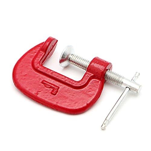Schraubzwinge mit G-Klemme, robust, Metall, für Zimmermannsarbeiter, Handwerker, 2,5 cm, Rot (#1rot)