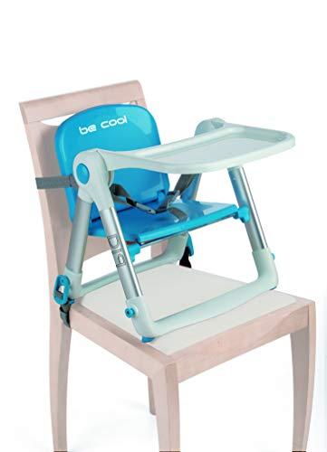 Be Cool Dip Trona Plegable de Viaje, Bandeja Extraíble, Aluminio, Compacta, Color Azul