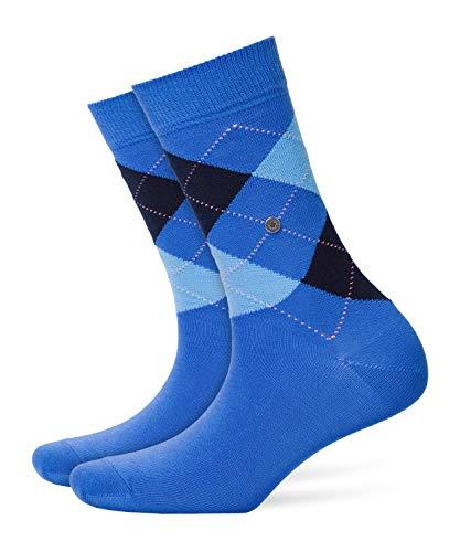 BURLINGTON Damen Socken Queen, Baumwollmischung, 1 Paar, Blau (River Blue 6551), Größe: 36-41
