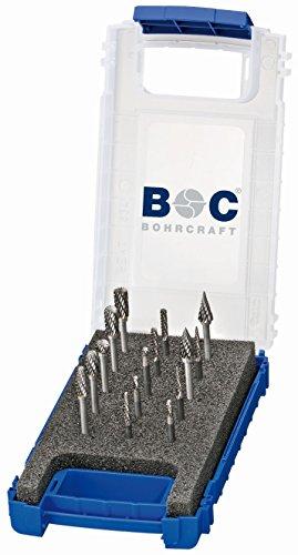 Bohrcraft 59001330015 KF15 - Juego de fresas de metal duro (15 piezas, diámetro de 3,0 y 6,0 mm)