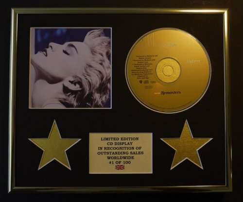 Madonna/CD Display/Limited Edition/COA/True Blue