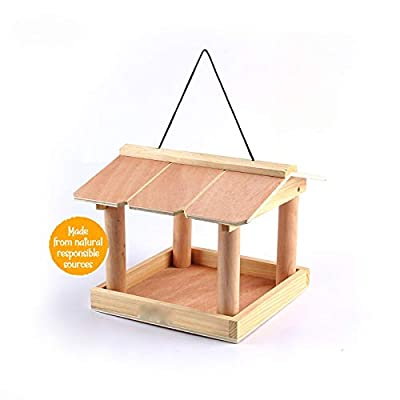 ADEPTNA Novelty Garden Wooden Tree Hanging Birds Feeder Table Seed Feeding Station – Attracts a Wide Variety of Birds from ALAYASH LTD