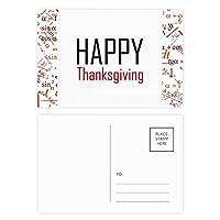 感謝祭の日の祝福祭の休日を祝う祭りの祝賀の言葉 公式ポストカードセットサンクスカード郵送側20個