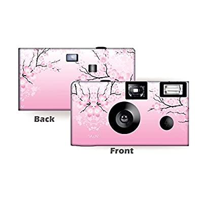 5 Cherry Blossoms Disposable Cameras, Anniversary, Single use, Flash WM-50423-C by CustomCameraCollection