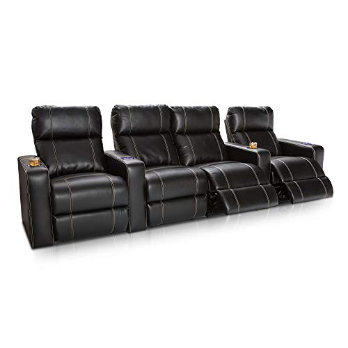 Seatcraft Dynasty Home Theater Seating - Power Recline - Leather Gel - Lighted...
