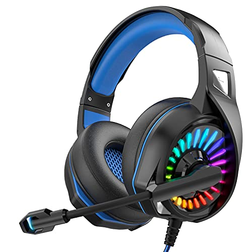 Nivava Gaming Headset for PS4, Xbox One, PC Headphones with Microphone...