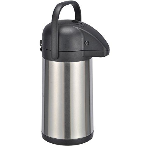 H-HI 2,2 Liter Airpot - Isolier Pumpkanne aus Edelstahl, doppelwandig, 33 cm: Kanne Kaffeekanne Getrönkespender Thermoskanne