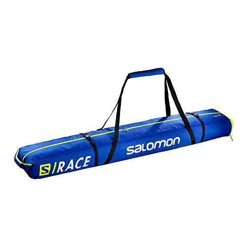 Salomon, Skisack EXTEND 2PAIRS 175+20 SKIB, Für 2 Paar Ski, Für Ski zwischen 175 - 195 cm, Blau...