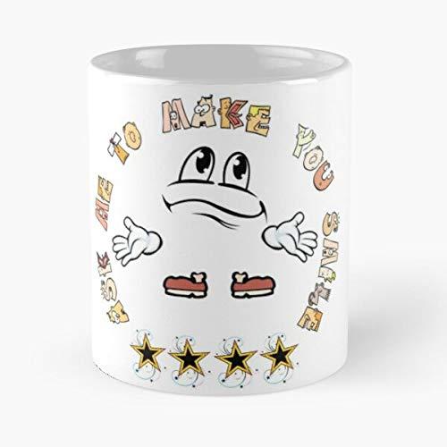 Desconocido Ask Smile To Me You Make Funny 2020 Taza de café con Leche 11 oz