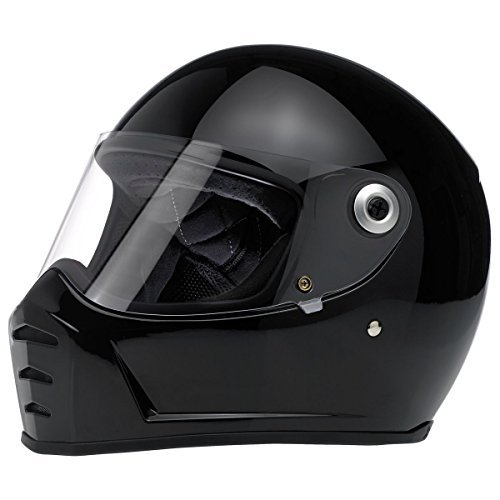 Biltwell Lane Splitter Solid Full-face Motorcycle Helmet - Gloss Black / X-Large