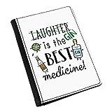 Laughter Ginebra Is The Best Medicina Pasaporte Funda Soporte
