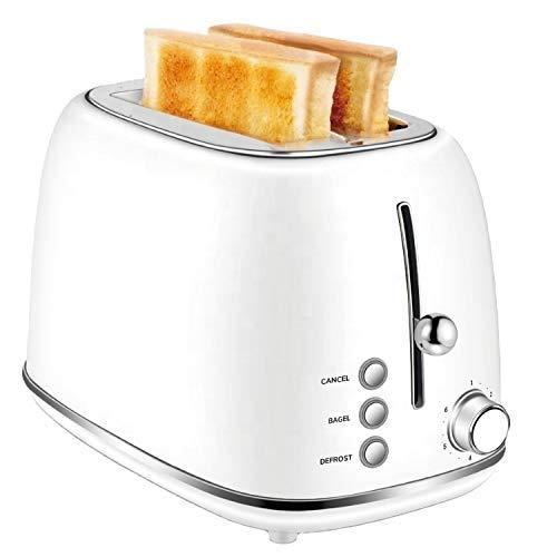 PLEASUR Tostadora de Pan Prestige para Hornear para el hogar, tostadora Larga de 2 rebanadas, Color Blanco